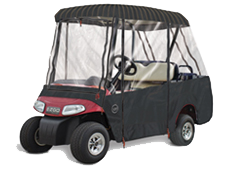 SUNBRELLA 4 PASSENGER W/ 2 Passenger Roof Golf Cart Enclosure