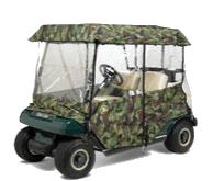 UNIVERSAL 2 & 4 PASSENGER Greenline Camo Golf Cart Enclosures