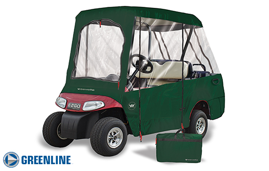 Greenline 4 passenger golf cart enclosure. Green.