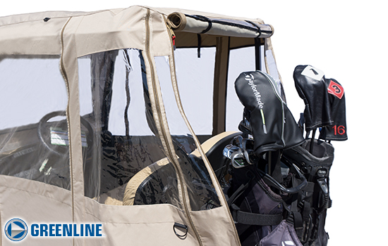 Golf_Cart_Enclosure_Greenline_tan_GLE24_rear_opening