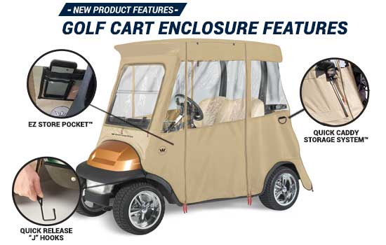 Club Car Precedent Golf Cart Enclosures