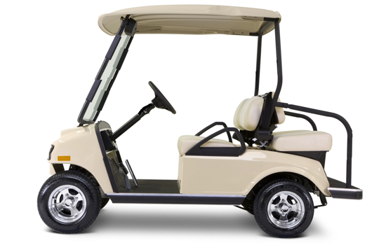 4 passenger golf cart with short roof